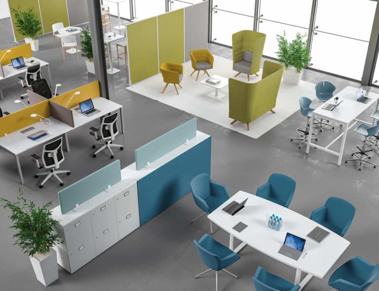 implantation espace de travail bruit acoustique