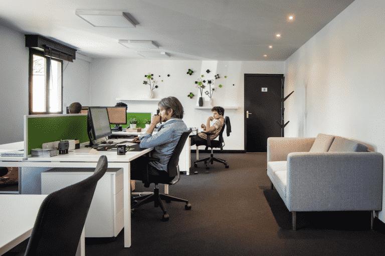 coworking moquette sol bruit