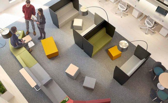 réunion informelle espaces de travail mobilier de bureau