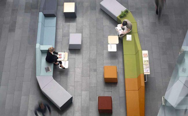 réunions informelles espaces de travail mobilier de bureau